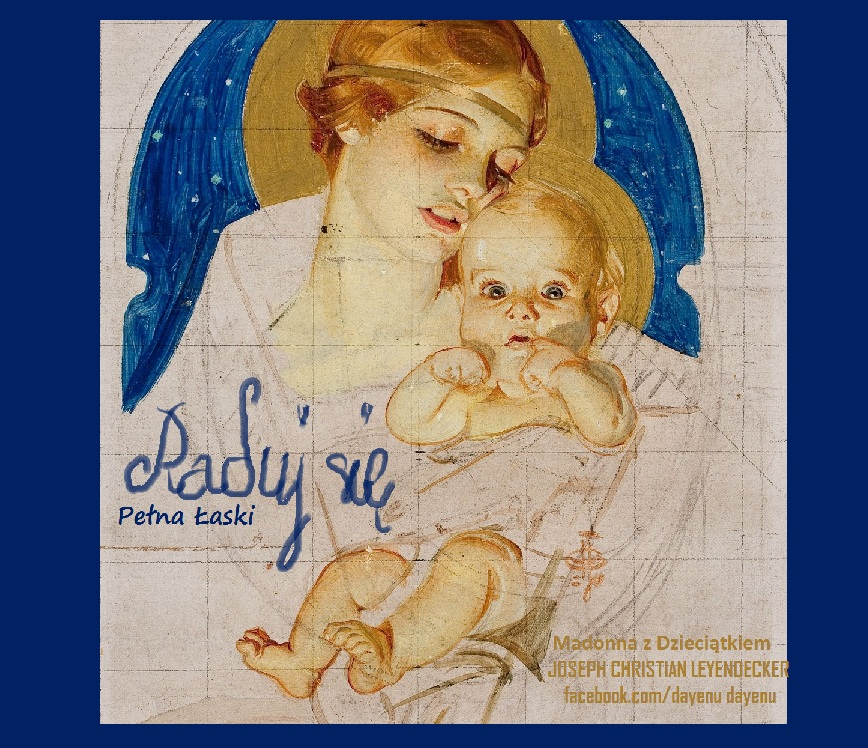 JOSEPH CHRISTIAN LEYENDECKER (American, 1874-1951). Madonna andChild, preliminary study for Saturday Evening Post Christm