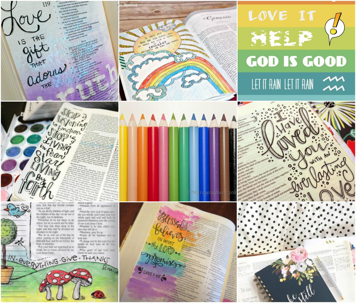 Bible journaling – kolorowe lectio divina
