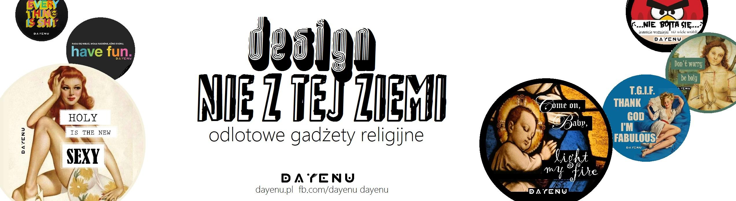 Okrągłe grafiki to nowa chrześcijańska propozycja DAYENU design for God - zdobią koszulki, lizaki, torby i przypinki!