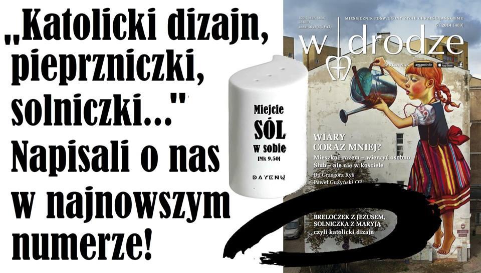 """DAYENU w magazynie """"W drodze"""", czyli katolicki dizajn tematem numeru!"""