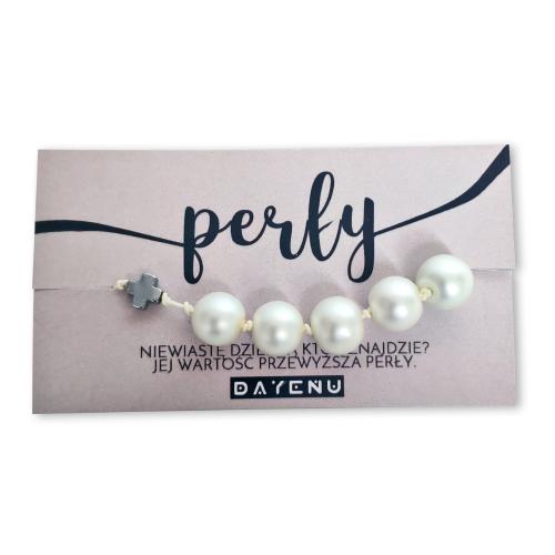 """Różaniec z perłami dla dzielnych niewiast! Inspirowany Pismem Świętym różaniec na rękę to świetny pomysł na prezent dla niezwykłej kobiety. """"Niewiastę dzielną któż znajdzie? Jej wartość przewyższaperły""""[Księga Przysłów 31,10] Niech Cię strzeże Maria / Projekt różańca DAYENU design"""
