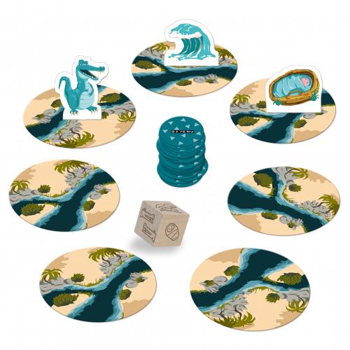 """Mojżesz wszystko to nowa gra DAYENU DESIGN! Tym razem przenosimy się w krainę plag, piramid i pustyń. Pomóż Mojżeszowi bezpiecznie przepłynąć przez wody Nilu, pokonaj krokodyle i swoich przeciwników, byś mógł zanucić: """"DAJ DAJENU""""!"""