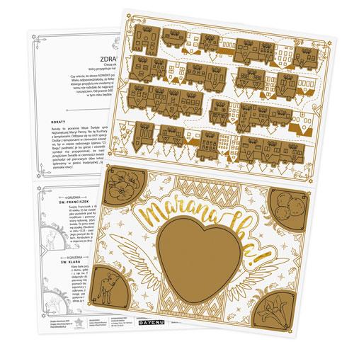 Zdrapka Adwentowa to idealny pomysł na kalendarz adwentowy! Drap i wygraj piękny ADWENT! Projekt zdrapki DAYENU DESIGN