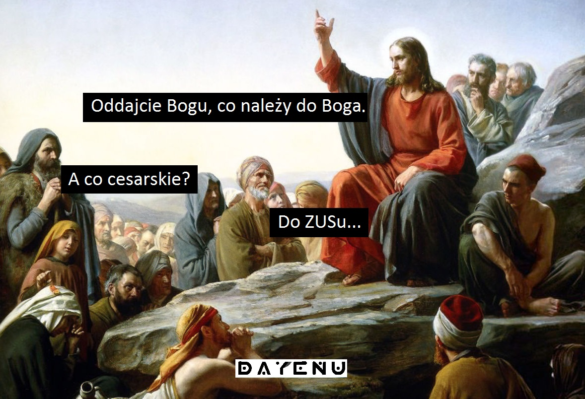ZUS PODATKI JEZUS uczciwość