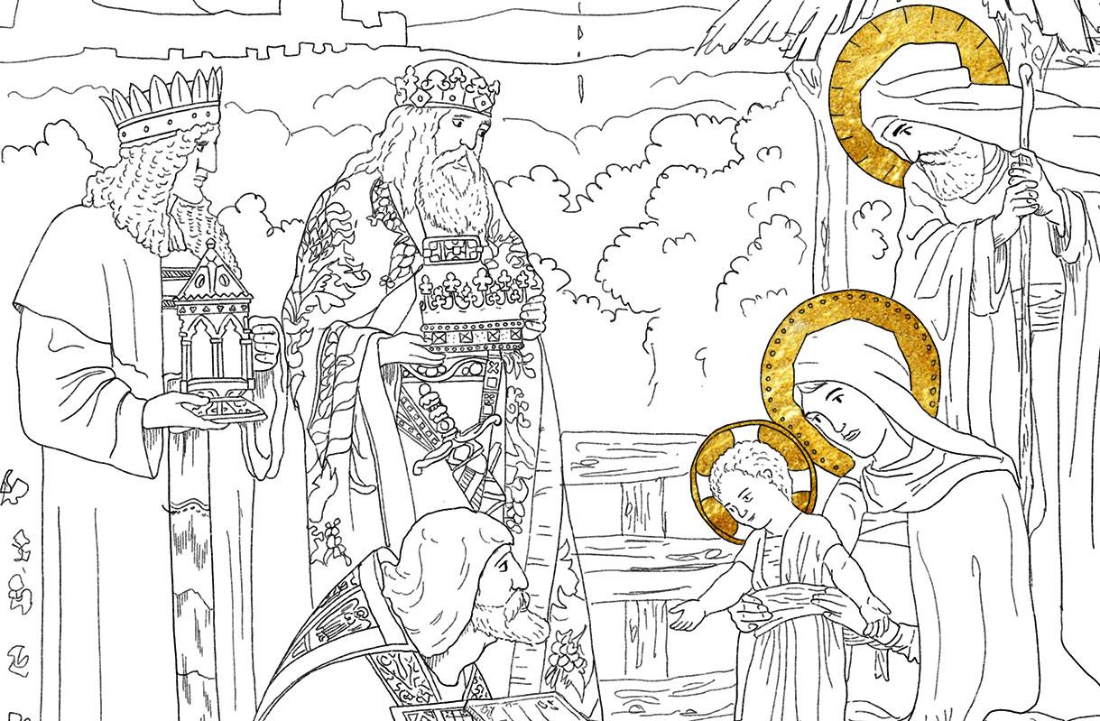 Trzech Króli rysowanka w prezencie