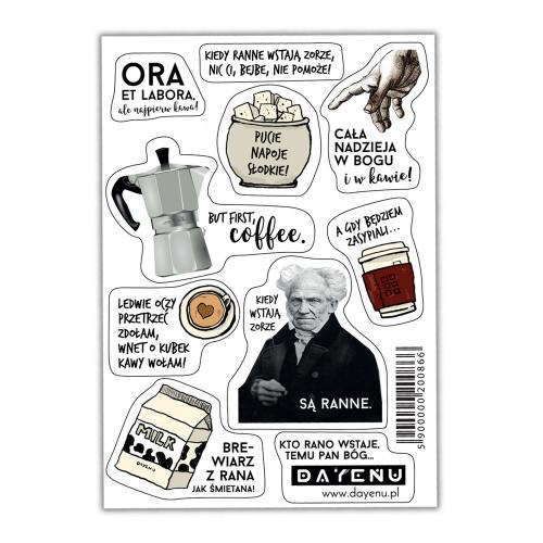 Religijne naklejki DAYENU, czyli co się stanie, gdy do wiary dodamy odrobinę kawy! Katolickie memy na hipsterskich wlepkach możesz przykleić tam, gdzie chcesz!