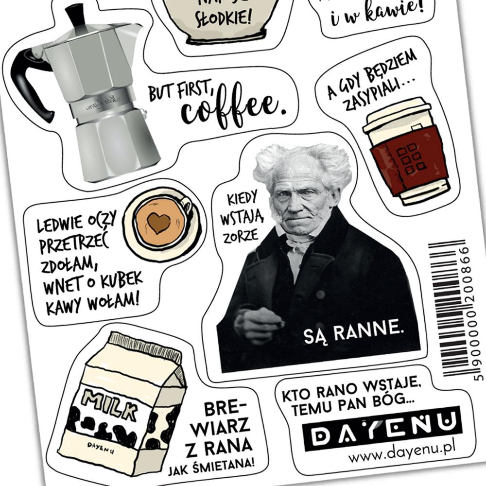 Tanie naklejki z drogim przekazem! Bóg, kawa i katolickie memy na jednym arkuszy, który możesz wykorzystać na 10 różnych sposóbów!